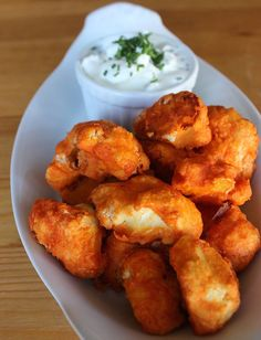 Pin for Later: 10 Versatile Recipes That Substitute Cauliflower For Carbs Crispy Cauliflower Buffalo Wings