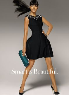 Chanel Iman in Amazon.com's Fashion Holiday 2012 ad campaign. Love this dress.