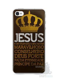 Capa Iphone 4/S Jesus #4 - SmartCases - Acessórios para celulares e tablets :)