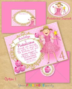 PINKALICIOUS Party Invitation 5x7 with by YourPrintableParty, $14.00