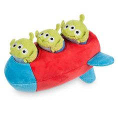 Ooh! It's up up and away with this plush rocket holding 3 mini Alien Tsum Tsums. This cute concept from Japan offers its own quirky versions of the Toy Story characters, simply stack them in the rocket and they're ready to fly!