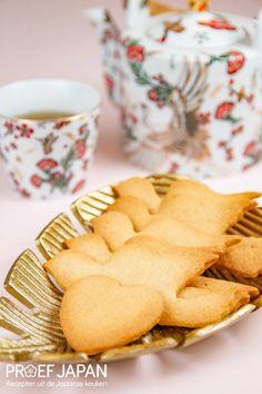 Recept: Japanse boterkoekjes (hato sable) | Proef Japan Desserts, Cookies, Food, Seeds, Tailgate Desserts, Crack Crackers, Biscuits, Meal, Dessert