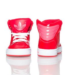 Adidas High Top Sneaker for Toddlers in All Red