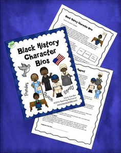 FREE Black History Character Bios - Newly updated! This lesson format requires students to organize their reports around character traits which discourages them from copying and pasting information from their sources.