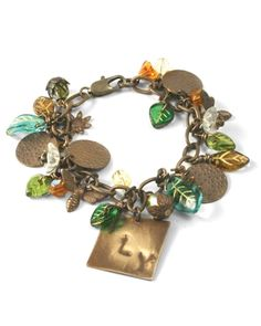 Bracelet made with Czech glass and Vintaj metal products