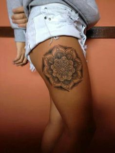 Thigh tattoo, like this but would want smaller maybe closer to hip