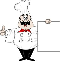 CHEF WITH BLANK SIGN