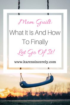 Mom guilt.  We have all felt it at one time or another. To be honest, I just felt it today when I sat down to read my book instead of playing school with my daughter.  Yup, I felt guilty about taking 20 minutes to myself to read.  This, my friends, is mom guilt.