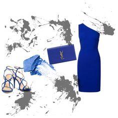 """""""...La terra dall'alto è blu ma quello che vedi tu è solo un abisso blu..."""" #Life is #blue new #post now on www.robyzlfashionblog.com  by robertazl on Polyvore featuring moda, STELLA McCARTNEY, Schutz, Yves Saint Laurent and NARS Cosmetics"""