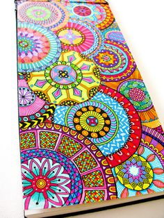 Zentangle patterns & ideas dibujos a color mandala tekenen, Doodles Zentangles, Zentangle Patterns, Easy Zentangle, Doodle Drawings, Doodle Art, Doodle Ideas, Zentangle Drawings, Mandala Design, Paisley Design
