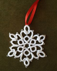 Tatted Snowflake Ornament Class