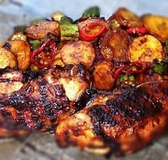 This Jerk Chicken is marinated to add extra flavor, unlike other recipes that simply call for a jerk rub. INGREDIENTS: 1 pound skinless chicken breasts 1 jalapeno pepper, seeded and diced 3 tablesp...