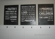 The Delectable Home: scripture verse subway art