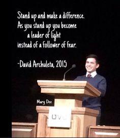 David Archuleta. Utah Valley University. April 15, 2015. Credit Mary Dee.