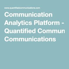 Quantified - The Communication Skills Improvement Platform Communication Skills Development, Good Communication, Interesting Sites, Platform, Science, Tech, Heel, Wedge, Technology