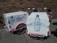 Evian Water Bike Distribution