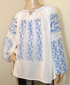 Peasant Blouse, Silk Thread, Hand Stitching, Hand Sewing, Ethnic, Bell Sleeve Top, Tunic Tops, Blouses, Hands