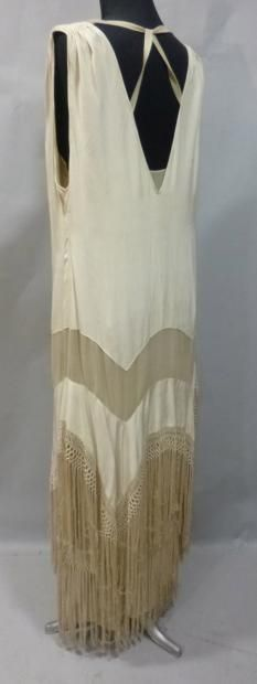Evening dress ca 1928, attributed to Worth