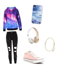 """Saturday"" by maddierosecarter on Polyvore featuring River Island, Converse and Missoma"