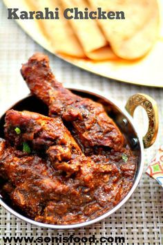 Delicious and easy Indian Kadai Chicken using coriander,cumin,chili for an easy, rustic dinner! Indian Chicken Recipes, Veg Recipes, Curry Recipes, Indian Food Recipes, Asian Recipes, Cooking Recipes, Ethnic Recipes, Chicken Recepies, Prawn Recipes