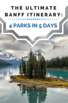 The perfect Banff road trip itinerary with stops at Lake Louise, Lake Moraine, Jasper National Park, and Yoho National Park. See the Canadian Rockies on this epic road trip you'll be talking about for years to come! Alberta Canada, Banff Alberta, Canada Ontario, Ottawa Ontario, Vancouver, Cool Places To Visit, Places To Travel, Parcs Canada, Calgary