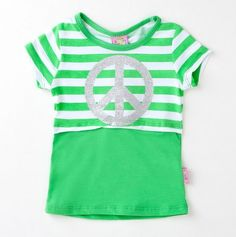 Infant Girls' Peace Sign Mock Two-fer Tee - Sweet & Soft