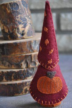 Wooden Pumpkin Gnome A Waldorf and van HoneyBeeToyAndCraft op Etsy