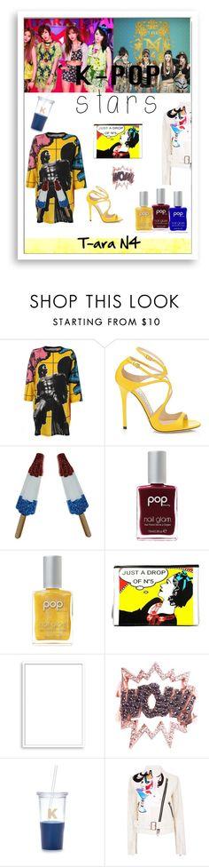 """K-Pop Stars T-ara N4"" by fashionistamummy83 ❤ liked on Polyvore featuring Moschino, Pop Beauty, Karl Lagerfeld, Bomedo, Diane Kordas, Kate Spade, BIG PARK and kpop"