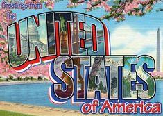 USA Postkarte vintage Design