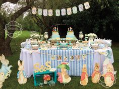 Dolcezza Eventos's Birthday / Peter Rabbit - Twin´s Year Party ♥ at Catch My Party Peter Rabbit Party, Peter Rabbit Cake, Peter Rabbit Birthday, Easter Birthday Party, Bunny Birthday, 2nd Birthday Parties, Birthday Ideas, Coelho Peter, Twins 1st Birthdays