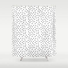 Random Polka Shower Curtain