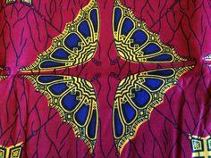 African Wax Print Fabric by the Half  Yard. Dark by MoreLoveMama