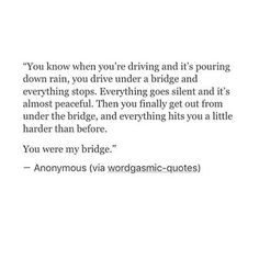 you were my bridge