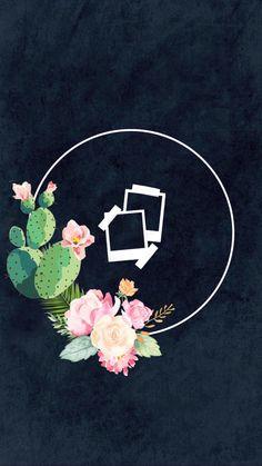 original designs by Sabrina Witteck Floral Wallpaper Iphone, Galaxy Wallpaper, Nature Wallpaper, Iphone Wallpaper, Instagram Logo, Instagram Tips, Instagram Background, Insta Icon, Cute Backgrounds