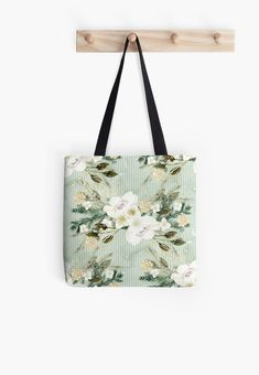 'Winter Flower Design' Tote Bag by Shane Simpson Large Bags, Small Bags, Winter Flowers, Medium Bags, Poplin Fabric, Iphone Wallet, Cotton Tote Bags, Flower Designs, Are You The One