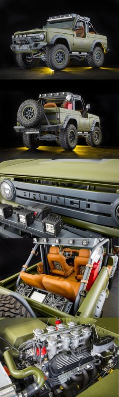 """1969 Ford Bronco by RMD Garage """"Perfection"""" Jeep Truck, Custom Trucks, Cool Trucks, Pickup Trucks, Cool Cars, Classic Bronco, Classic Ford Broncos, Classic Trucks, Ford Lincoln Mercury"""
