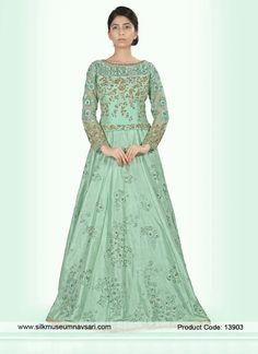 http://www.silkmuseumnavsari.com/salwar-kameez/angelic-raw-silk-cut-dana-party-wear-designer-gown_13903