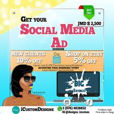 Social Media Ad Design by iCustomDesigns on Etsy