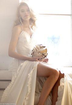 Bohemian wedding dress alternative wedding by VICTORIASPIRINA