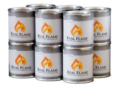 Real Flame Gel Fuel 12 Pack Indoor Outdoor Fireplace Fire Portable Patio Heat  #RealFlame
