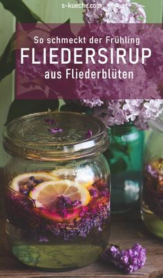 Fliedersirup aus Fliederblüten - so schmeckt der Frühling! - Fliedersirup aus Fliederblüten – so schmeckt der Frühling! Vous êtes à la bonne adresse pour d - Smoothie Bowl, Smoothie Recipes, Smoothies, Milk Recipes, Healthy Recipes, Wallpaper Marvel, Lilac Flowers, Crunches, Syrup