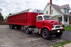old gmc trucks | Nice Pete for Georgies Trucking loading salt on Jones Island at the ...