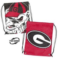 Georgia Bulldogs UGA Bag Dual Logo Stringpack Backsack