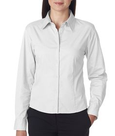 UltraClub womens Whisper Twill(8976) ** See this great image  : Plus size shirts