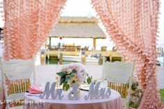 Our new blush backdrop is the perfect frame for a sweetheart tale or cake table www.islamroadaweddings.com Florida Keys Weddings by Caribbean Catering - Google+