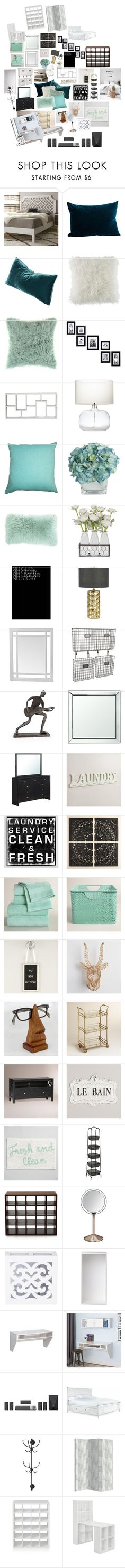 """""""Untitled #2109"""" by bucketlistdiary on Polyvore featuring interior, interiors, interior design, home, home decor, interior decorating, I Love Living, BCBGeneration, Bloomingville and Adeco"""