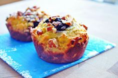 Lemon Blueberry Nut Muffins - The Freckled Foodie