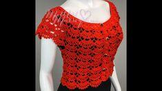 Crochet Bag Tutorials, Crochet Projects, Crochet Patterns, Crochet Blouse, Crochet Top, Knitting Videos, Baby Knitting, Embroidery Designs, Crop Tops