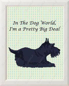 Scottie Print Scottish Terrier Print 8 X 10 Dog World Big Deal Cute Baby Nursery Home Decor
