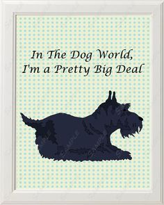 Scottie Print Scottish Terrier Print 8 X 10 Dog World Big Deal Cute Baby Nursery Home Decor